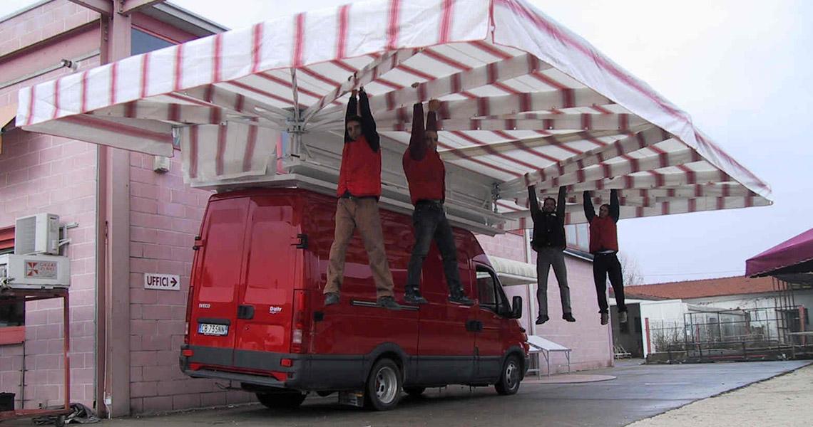 Tende da mercato per ambulanti di gaggio srl