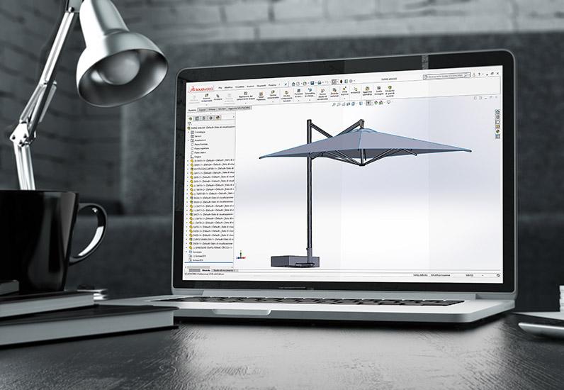 Progettazione-Ombrellone-personalizzato-professionale-Gaggio