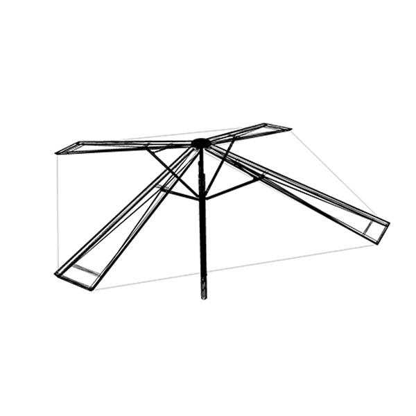disegno-tecnico-pyramid-ombrellone-design-gaggio